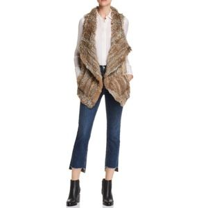 Bloomingdales Cashmere Rabbit Fur Vest